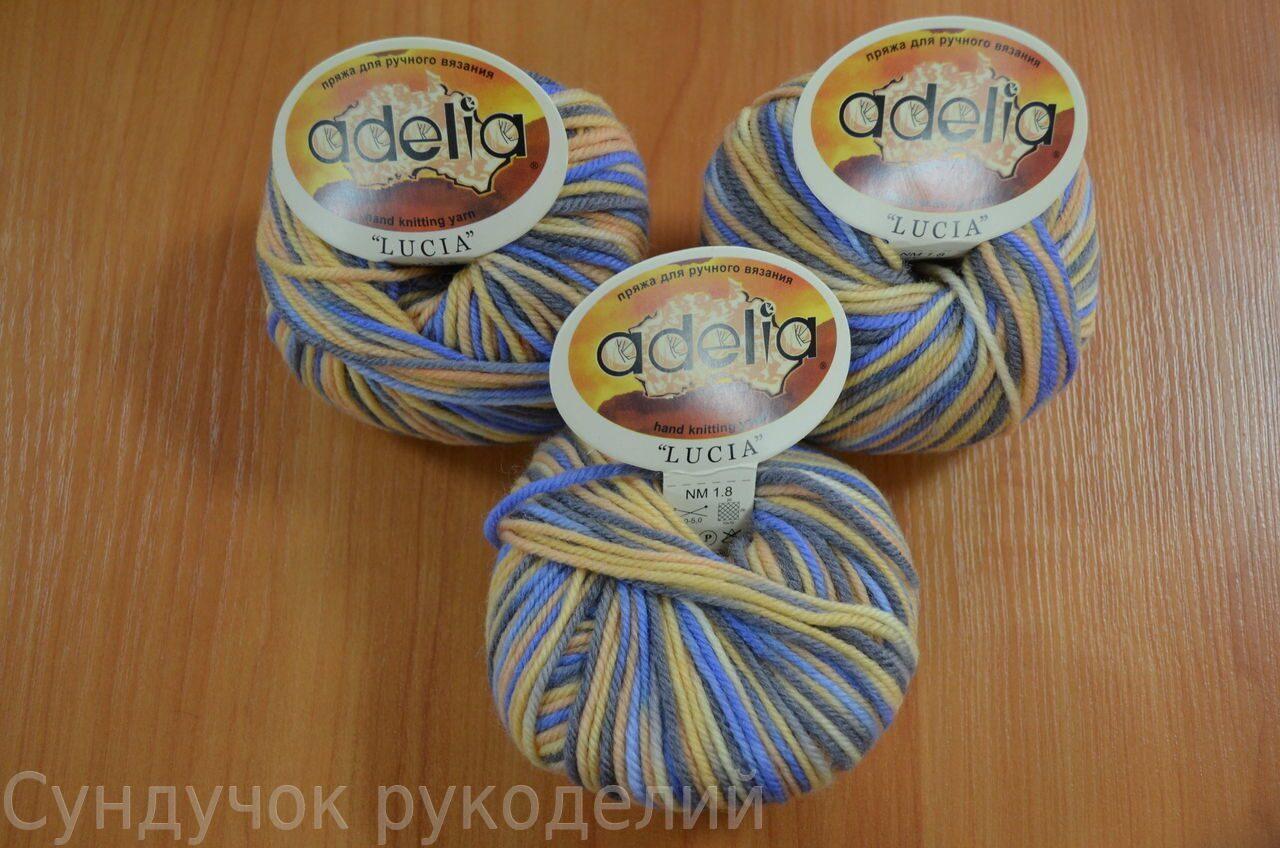 Пряжа для вязания 50 шерсть 50 акрил 142